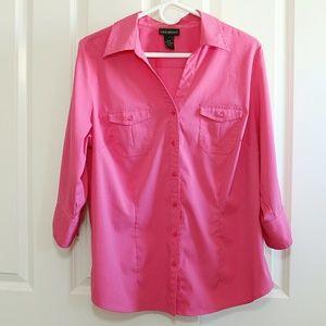 Lane Bryant Tops - Lane Bryant Pink Button Down Blouse