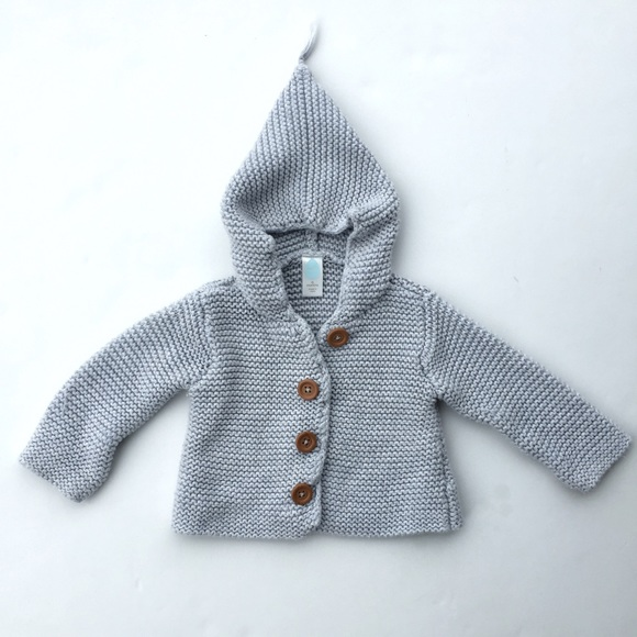 cd03b7a5e Stem baby Pixie Hooded knit Sweater