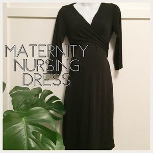Motherhood Maternity black dress size medium