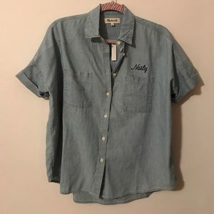 BNWT Denim Courier Shirt
