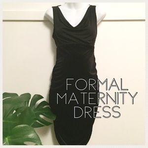 Maternity black formal dress medium
