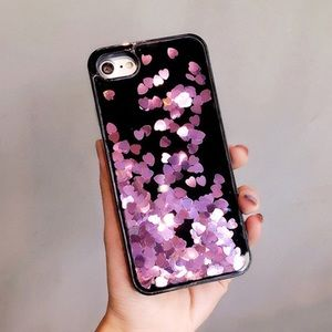 Accessories - Luxury liquid glitter heart ❤️phone case!