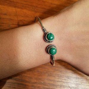 Jewelry - Sterling Silver Malachite Bangle