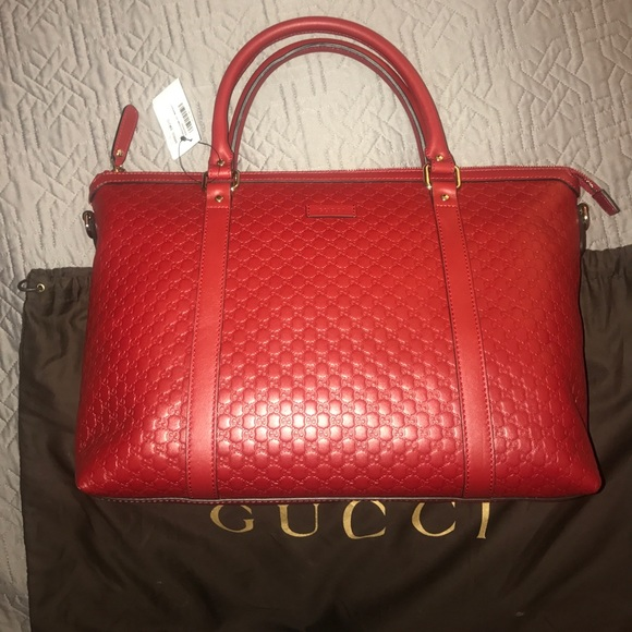 34c13a383f6 New Gucci Handbag Microguccissima red leather.