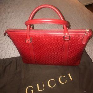 c2289914764 Gucci Bags - New Gucci Handbag Microguccissima red leather.