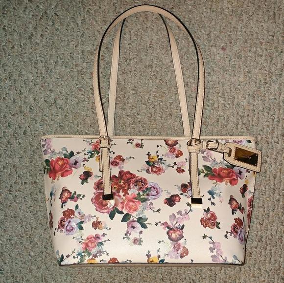 Aldo Bags   Blush Pink Floral Print Handbag   Poshmark