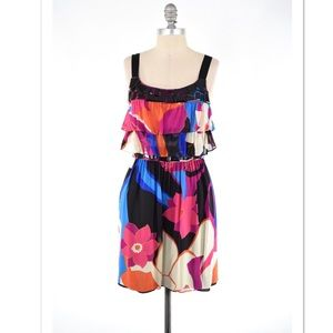 Tibi Dresses & Skirts - Tibi bright floral silk georgette beaded dress