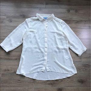 Vera Wang Tops - Vera Wang Bottom Down shirt embroidered back large