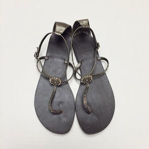 Yellow Box Shoes - Rhinestone Sandals
