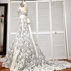 Couture wedding dress.