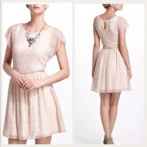 Anthropologie Dresses & Skirts - Weston Wear Pink Polka Dot Skater Dress