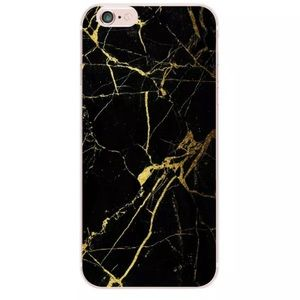 Accessories - iPhone 7/ 7 Plus Marble Case Black & Gold
