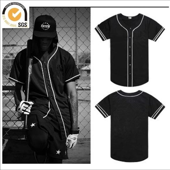 san francisco 4aa0b 575d5 Plain black baseball jersey