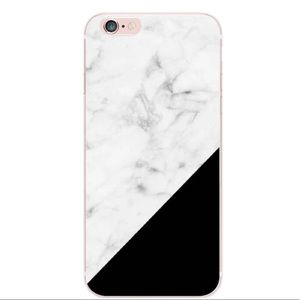 Accessories - Marble & Black iPhone 7 Plus Case