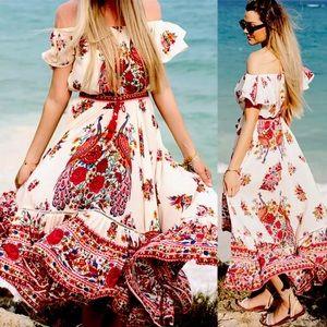 Dresses & Skirts - NWOT Summer Gypsy Hippie Boho Dress
