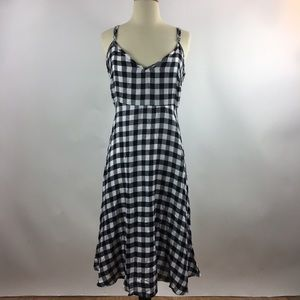 NATIVE YOUTH Dresses & Skirts - Native Youth Black Gingham Checkered Tank Dress