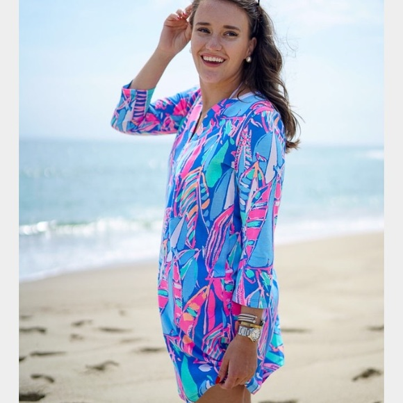 b0d1ad1cba2438 Lilly Pulitzer Dresses & Skirts - Lilly Pulitzer XXS Ali Dress Bay Blue Out  To Sea