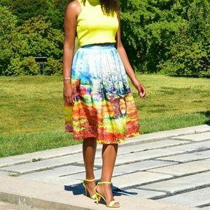 ChicWish Dresses & Skirts - Turn Back Time Scenic Print Midi Skirt