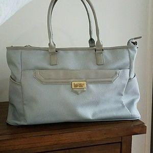 Nicole Miller Handbags - Nicole Miller Grey travel bag.