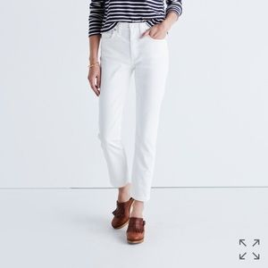 Madewell Denim - NWT! Madewell Cruiser Straight Jeans in Pure White
