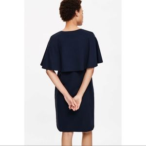 COS Dresses & Skirts - NWOT! COS Jersey Cape Dress in Navy