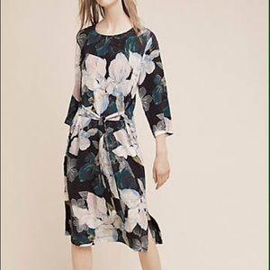 Anthropologie Giacinta Floral Silk Midi Dress