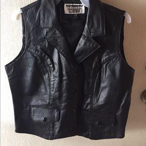 Other - Leather vest NWOT