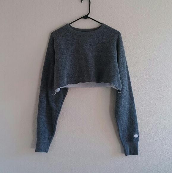 a65a7e3e SOLD DEPOP- Grey Cropped Champion Sweatshirt. M_592ebab66802783d73000c80.  M_592ebabe713fde2221000d94. M_592ebab66802783d73000c80;  M_592ebabe713fde2221000d94