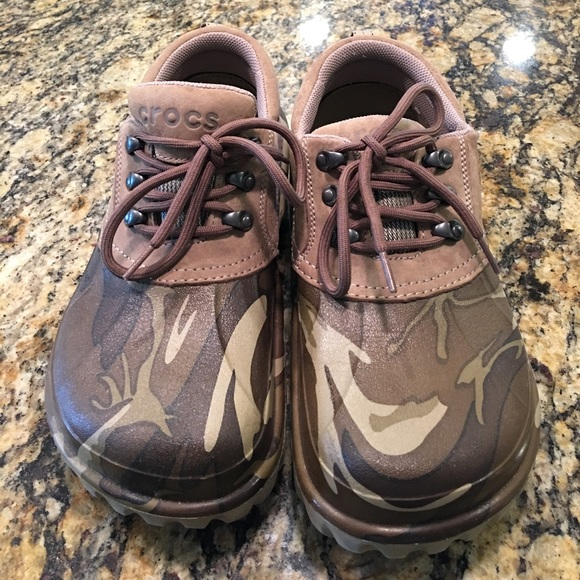 a5c9b4248840 CROCS Other - Crocs all terrain brown camo with men size 10