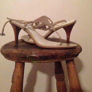 Calvin Kline thong sandals. Size 9 1/2 M.