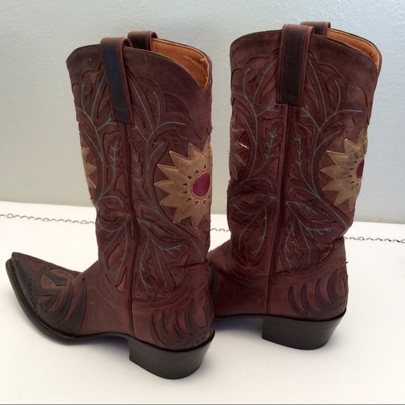 78f82c386a3 Old Gringo Sunflower Cowboy Boots Boot Star 8