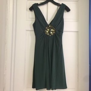 Emerald green BCBGMAXAZRIA minidress