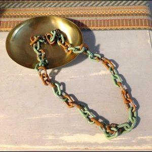 J. Crew Jewelry - J.Crew Chain Links Rhinestone Sparkle Statement