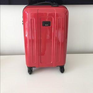 Tumi Handbags - LIPSTICK RED TUMI INTERNATIONAL CARRY ON NWT