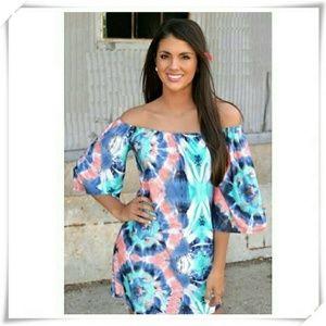Cold shoulder dress NWOT