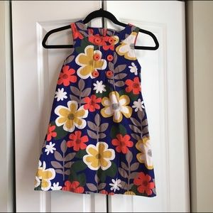 Mini Boden Other - Mini Boden Corduroy Floral Dress - Size 7-8Y