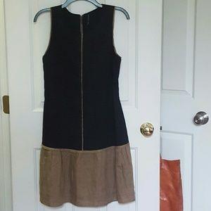 Black & tan Walter Baker linen tank dress