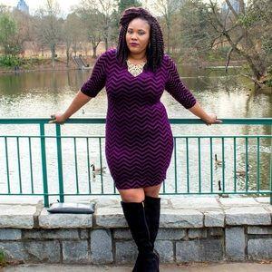 🎉✨HOST PICK🎉✨ Chevron Velvet Dress