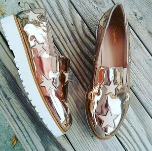 LAST PAIR!!//The Amber// Rose gold star Sneakers