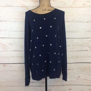Kersh Sweaters - Navy Beaded Sweater