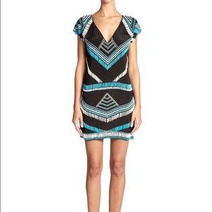 Karina Grimaldi Dresses & Skirts - Karina Grimaldi 'Blake' Beaded Silk Dress