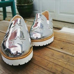 //The Amber// Silver metallic  platform Sneaker