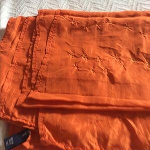 Accessories - Burnt orange silk wrap