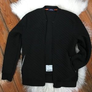 LIKE NEW// Topman Black Quilted Bomber Jacket