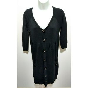 ayk Sweaters - Slouchy black three-fourths sleeves sweater