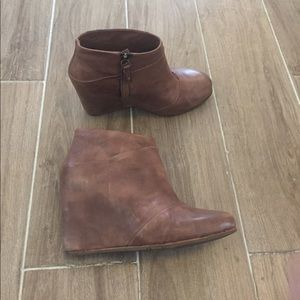 UGG Shoes - UGG leather ankle covered Wedge bootie