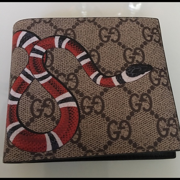 6a99f861734 Gucci GG canvas snake wallet new Mens