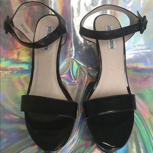 Steve Madden Shoes - Steve Madden Women's Prestige Wedge Sandal Black ✨