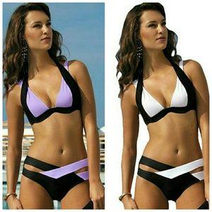 New Summer Sexy Halter Patchwork Bikini Woman