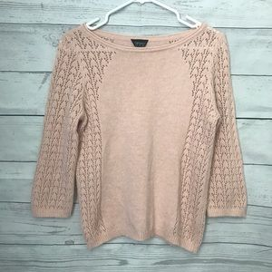 Topshop Sweaters - Topshop 3/4 sleeved light pink sweater